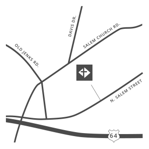A map of Salem Baptist Church